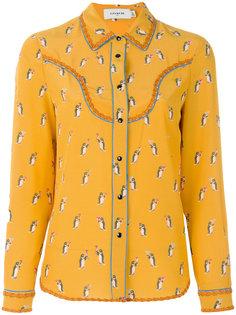 блузка с принтом пингвинов Coach