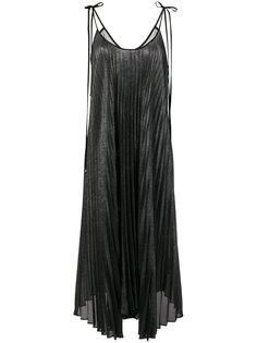 плиссированное платье с лямками-спагетти Twin-Set