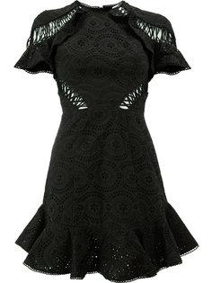 короткое расклешенное платье Zimmermann