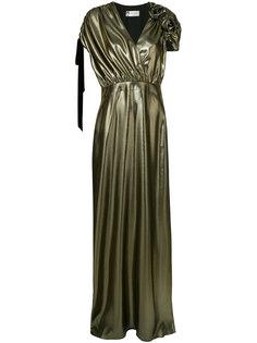 вечернее платье с V-образным вырезом Lanvin