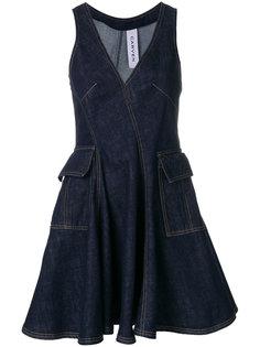 мини-платье с V-образным узором Carven
