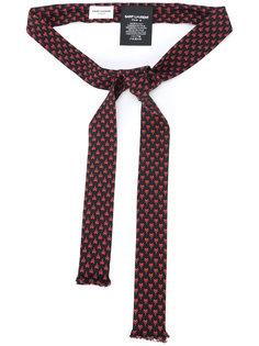 галстук с Y-образным узором  Saint Laurent