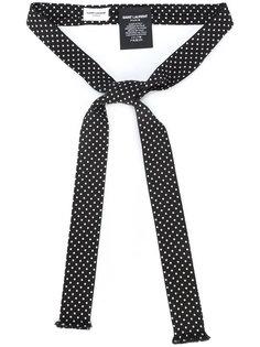 галстук в горох Saint Laurent