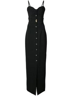 длинное платье с вырезом сердечком  Cushnie Et Ochs