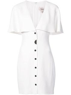 приталенное платье-кейп  Cushnie Et Ochs