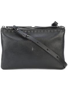 сумка через плечо с двойной молнией  Henry Beguelin