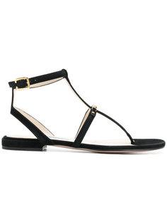 сандалии с Т-образным ремешком Prada