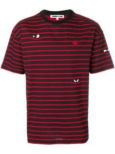 полосатая футболка с аппликациями McQ Alexander McQueen