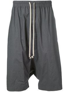 шорты с заниженным шаговым швом Rick Owens