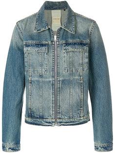 джинсовая куртка на молнии Helmut Lang