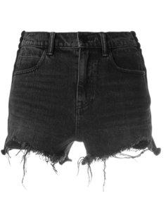 джинсовые шорты с потертой отделкой Alexander Wang