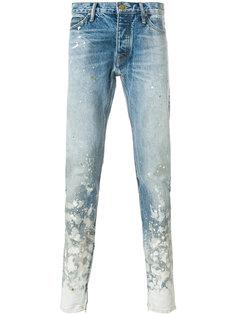 джинсы с эффектом разбрызганной краски Fear Of God