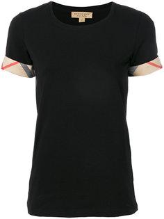 футболка с манжетами в клетку Burberry