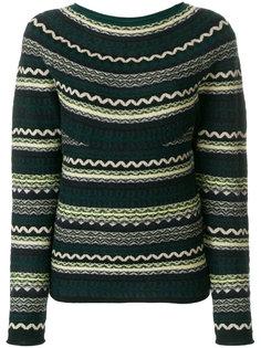 свитер с узором Burberry
