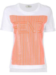 футболка с логотипом Fendi
