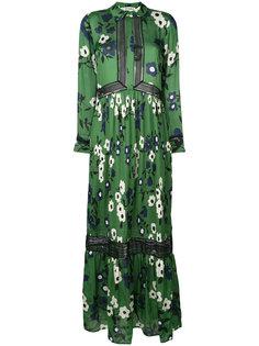 платье-рубашка с цветочным принтом Self-Portrait