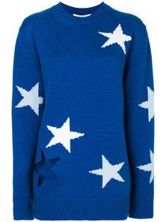 джемпер с принтом-интарсией звезд Givenchy