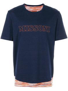 футболка с принтом-логотипом Missoni