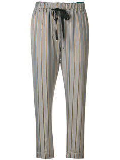 приталенные брюки в полоску Forte Forte