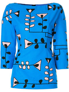 блузка с цветочным принтом  Marni