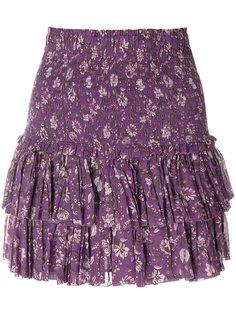 юбка с рюшами и цветочным принтом Isabel Marant Étoile