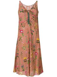 платье миди с цветочной вышивкой Nº21