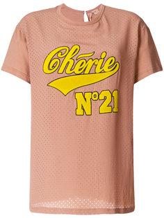 футболка с заплаткой с логотипом Nº21