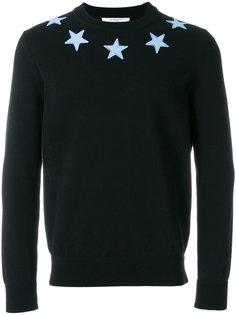 джемпер с аппликациями в виде звезд Givenchy