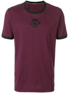 футболка с вышивкой логотипа Dolce & Gabbana
