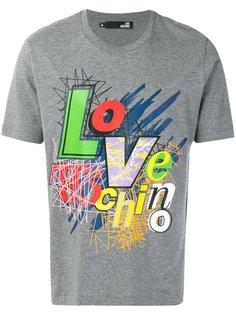 футболка с принтом логотипа Love Moschino