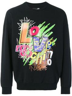 толстовка с графическим логотипом Love Moschino