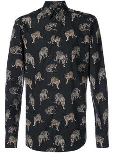 классическая рубашка с леопардовым принтом  Dolce & Gabbana