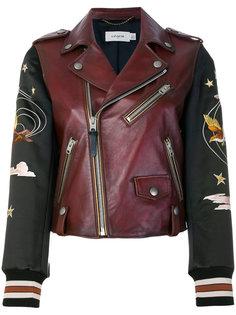 байкерская куртка с вышивкой  Coach