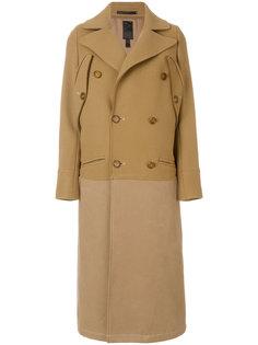 длинное двубортное пальто Dondup