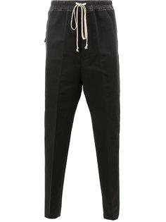 сужающиеся к низу брюки со шнурком на поясе Rick Owens
