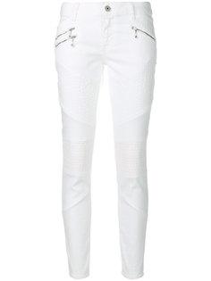 байкерские джинсы в стиле casual Just Cavalli