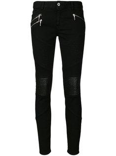 байкерские джинсы кроя слим Just Cavalli