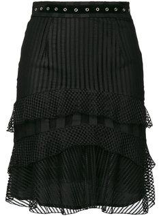 юбка с рюшами и люверсами Just Cavalli