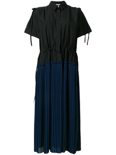 плиссированное платье-рубашка Kenzo