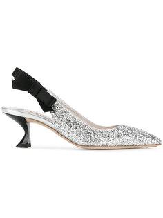 туфли с ремешком на пятке Miu Miu