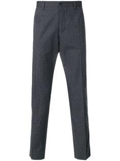 классические брюки с леопардовыми полосками Dolce & Gabbana