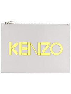 клатч с логотипом Kenzo