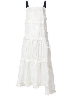 полосатое многоуровневое платье  Loewe