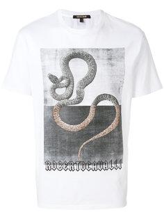 футболка со змеей Roberto Cavalli