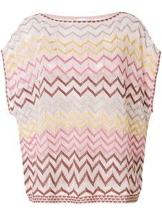 oversized zig-zag knitted T-shirt M Missoni