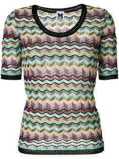 трикотажная футболка с зигзагообразным узором M Missoni
