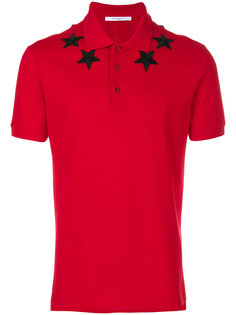 футболка-поло с аппликацией звезд Givenchy