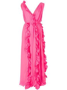 драпированное платье с рюшами MSGM