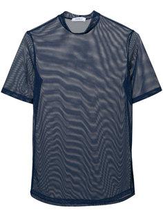 полупрозрачная блузка с высоким воротом  Nomia