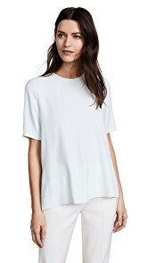 Adam Lippes Short Sleeve Crepe T-shirt